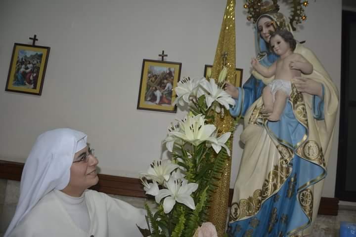 SIERVAS DE MARÍA, CELEBRARON LA FIESTA DE SU PATRONA LA VIRGEN DE LA SALUD.